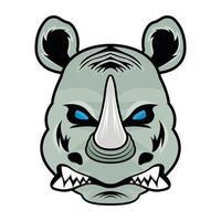 cara de rinoceronte y mascota vector
