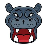 Hippopotamus Face  and mascot vector