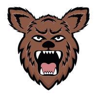 Wild Bear face vector