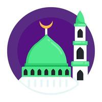 Mosque Building and worship vector