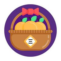 Orange Basket and container vector