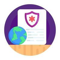 Health Report and prescription vector