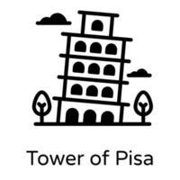 Tower of Pisa vector