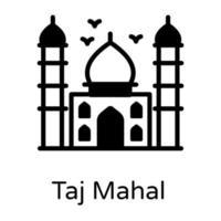 Taj Mahal Indian Landmark vector