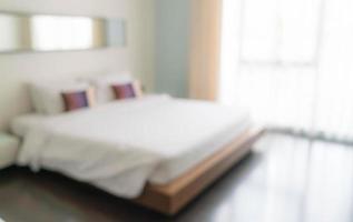 Desenfoque abstracto hermoso interior de dormitorio de lujo foto
