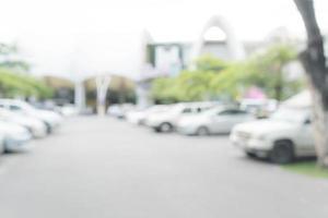 Coche de estacionamiento borroso abstracto para el fondo foto