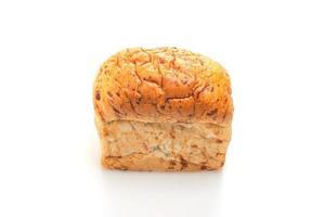 hogaza de pan aislado sobre fondo blanco foto