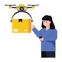 Drone Parcel   Delivery vector
