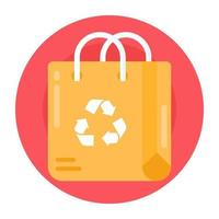 Bag Recycling and Reuse vector