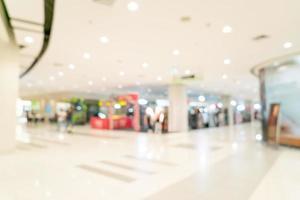 Centro comercial de desenfoque abstracto y tienda minorista para el fondo foto