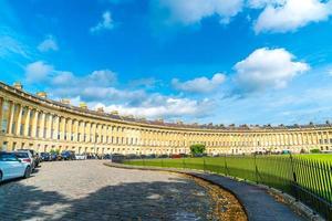 Bath, England - AUG 30 2019 - The famous Royal Crescent at Bath Somerset England, United Kingdom. photo
