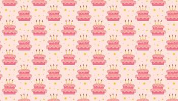 Happy birthday pattern banner background Holiday decoration vector