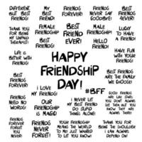 conjunto de citas sobre la amistad vector