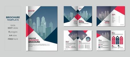 Brochure template design, minimal multipage business brochure design vector