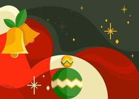 Banner with christmas bells. Postcard design in abstract style. vector
