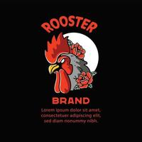 Rooster illustration for t-shirts design character vector