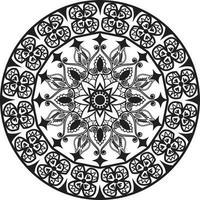 Circular pattern in the form of a mandala. Henna tattoo mandala. vector