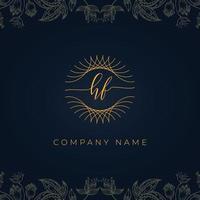 Elegant luxury letter HF logo. vector
