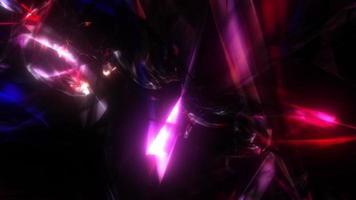 lazo brillante parpadeante rosa púrpura azul túnel de cristal video