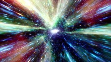 Colorful glow blue green hyperspace tunnel vortex loop video