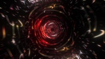 Loop gold red psychedelic spin futuristic pattern vortex video
