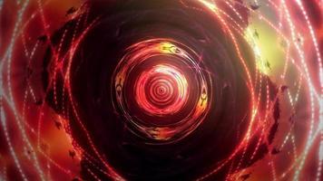 bucle de movimiento de tecnología de luz dorada hipnótica psicodélica concéntrica video