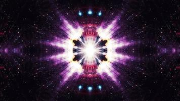 Glow shine pink purple red kaleidoscope sequence pattern video
