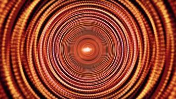 círculos hipnóticos psicodélicos concéntricos patrón de secuencia túnel de movimiento video
