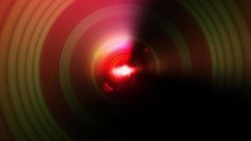 Glow optical flare light multicolored circle wave vortex video