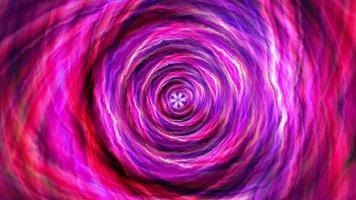 bucle de rotación del túnel vórtice hipnótico psicodélico rosa púrpura video