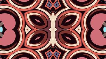 simetria tons pastel flores geométricas abstratas forma de mandala video