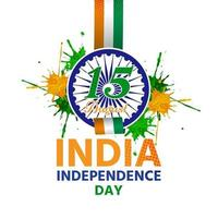 Independence day of india has a symbol attached to ribbon vector
