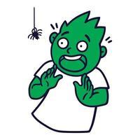 hombre con emociones asustadas. avatar emoji asustado. vector