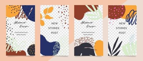 Social media post and stories background vector. Cover template. vector