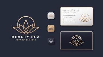 beauty spa lotus logo vector