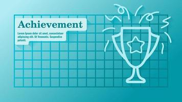 Business Achievement with Trophy Presentation Template vector