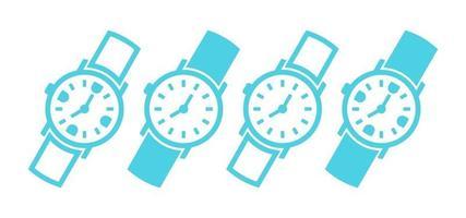 Set of Simple Hand Watch vector
