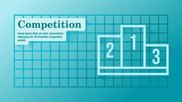 Business Competition with Podium Presentation Template vector