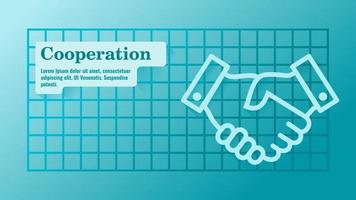 Business Agreement or Partnership Presentation Template vector