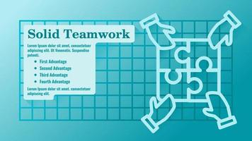 Teamwork Completing Each Other Presentation Template vector