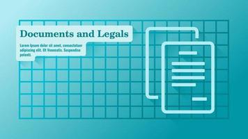 Business Documents and Legals Presentation Template vector