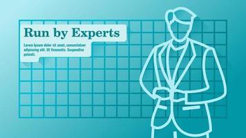 Expert Businessman in Suit Presentation Template vector