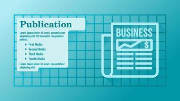 Business Publication Media Presentation Template vector
