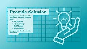 Provide or Give Solution Business Presentation Template vector