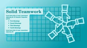 Teamwork Gather Hand Presentation Template vector
