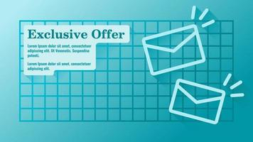 Exclusive Offer via Email Business Presentation Template vector