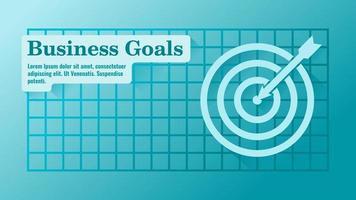 Business Target or Goals Presentation Template vector