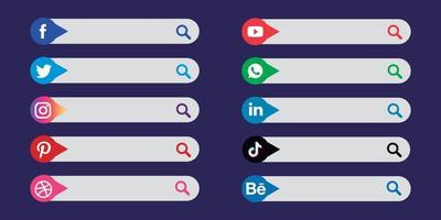 Search Box Lower Thirds Vector Set