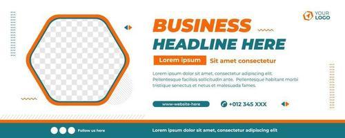white flat design business banner template vector