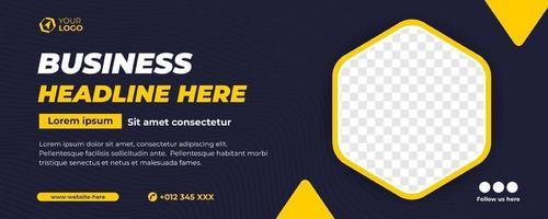 flat design business banner template vector